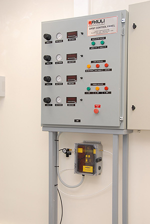 Aircraft stripping facility supervisors control process parameters