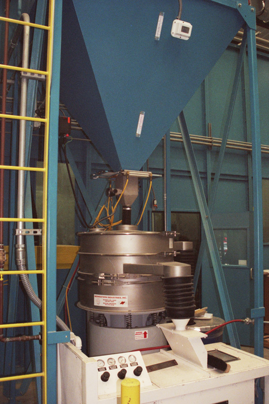 Hopper Going into Dense Particle Separator