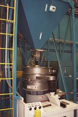 Hopper Going into Dense Particle Separator