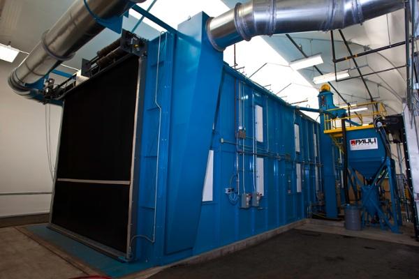 Blast Room with Roll Up Door - Closed
