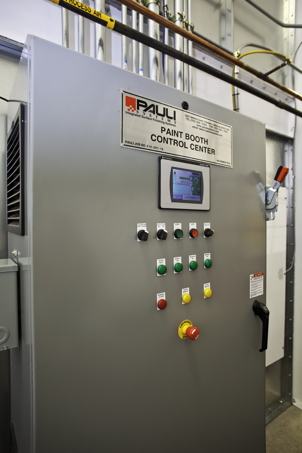 Paint Booth Control Center
