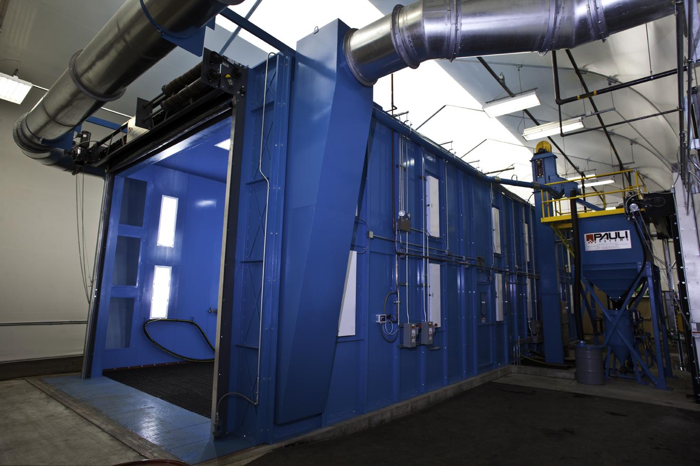 Blast Room with Roll Up Door - Open